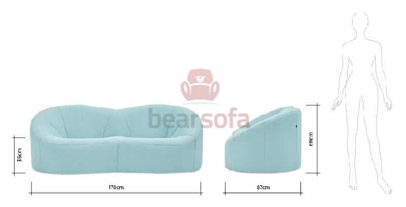 Nobu 2 Seater Sofa Ảnh 5