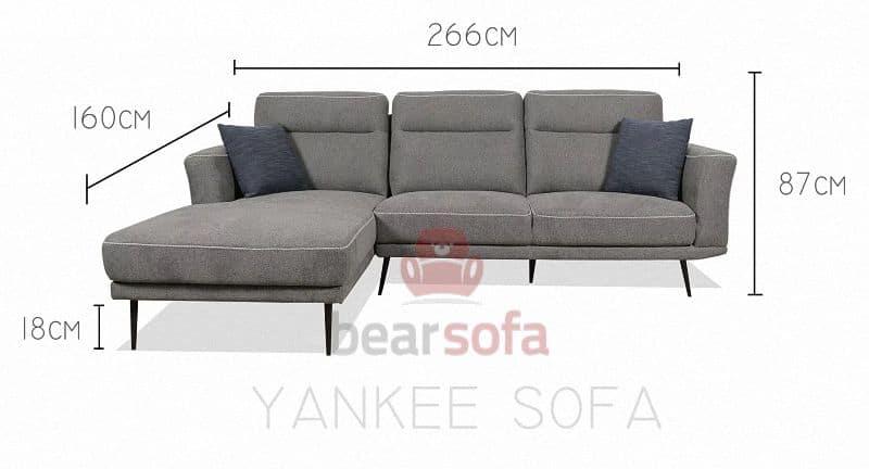 Kích Thước Ghế Sofa Góc Yankee Sofa